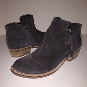 Dolce Vita Sutton Grey Suede Ankle Boots 8.5